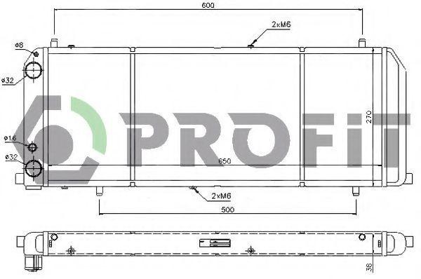 Радиатор охлаждения PROFIT PR0012A7