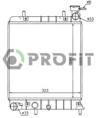 Радиатор охлаждения PROFIT PR1804A4