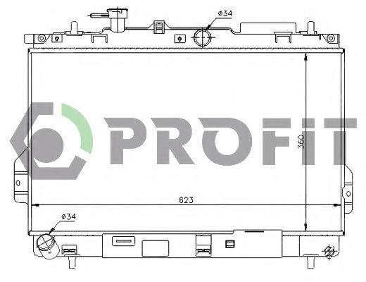 Радиатор охлаждения PROFIT PR1806A4