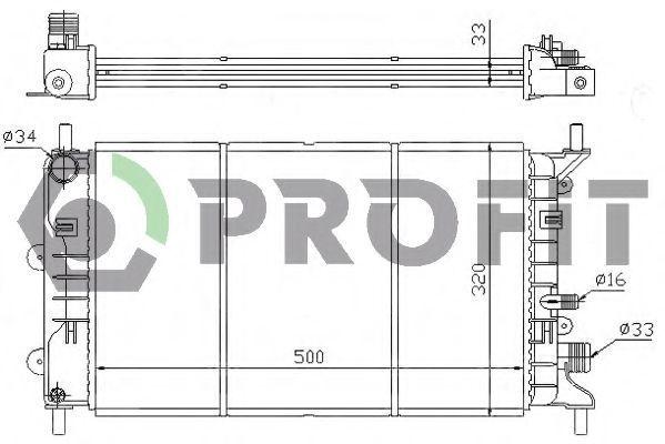 Радиатор охлаждения двигателя PROFIT PR 2530A3