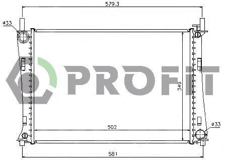 Радиатор охлаждения PROFIT PR2562A3