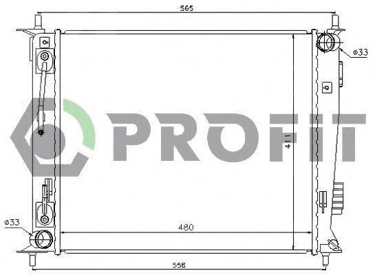 Радиатор охлаждения PROFIT PR2908A1