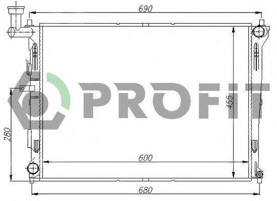 Радиатор охлаждения двигателя PROFIT PR 2910A1