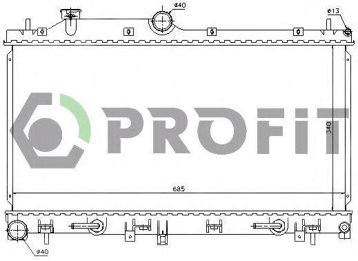 Радиатор охлаждения PROFIT PR2910A2