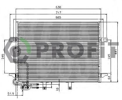 Конденсор кондиционера PROFIT PR3510C3