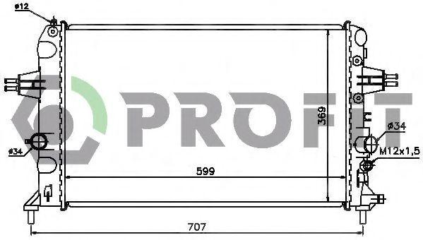 Радиатор охлаждения двигателя PROFIT PR 5054A2