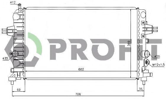 Радиатор охлаждения PROFIT PR5055A1