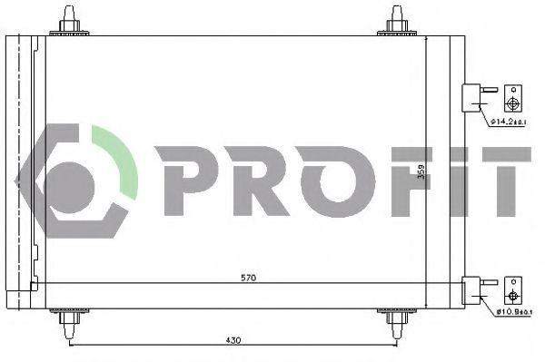 Конденсор кондиционера PROFIT PR1912C1