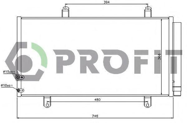 Конденсор кондиционера PROFIT PR2027C1