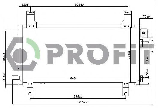 Конденсор кондиционера PROFIT PR2030C1