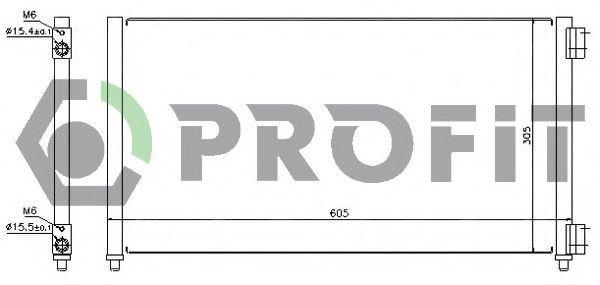 Конденсор кондиционера PROFIT PR2032C1