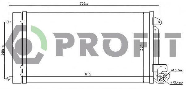 Конденсор кондиционера PROFIT PR9575C1