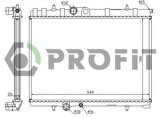 Радиатор охлаждения PROFIT PR0521A1
