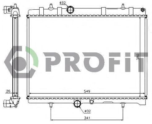 Радиатор охлаждения PROFIT PR 0522A1