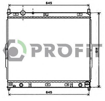 Радиатор охлаждения PROFIT PR6060A2