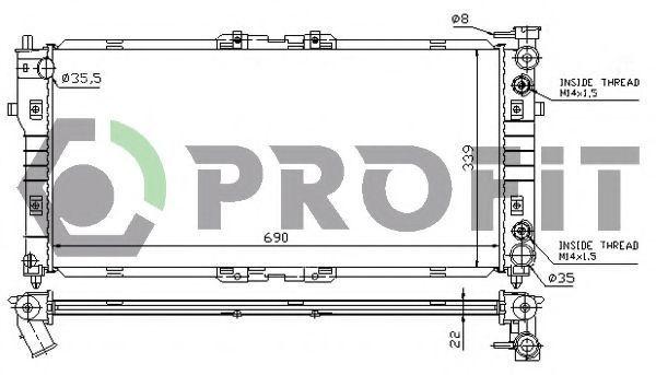 Радиатор охлаждения PROFIT PR3030A3