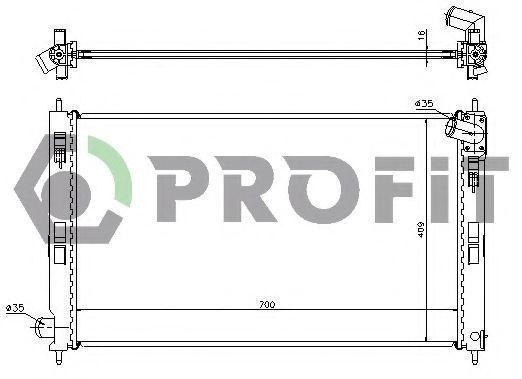 Радиатор охлаждения PROFIT PR4010A2