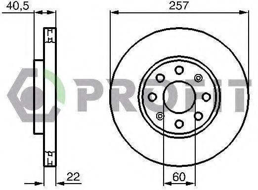 Диск тормозной PROFIT 50101304