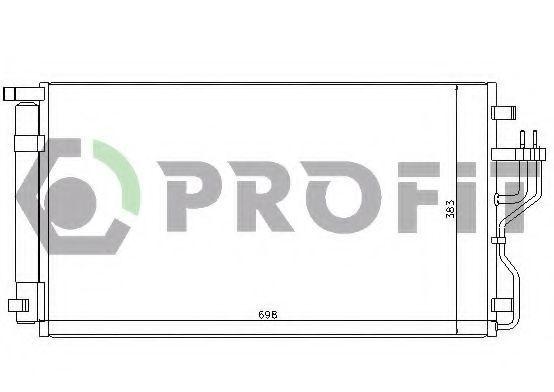 Конденсор кондиционера PROFIT PR1311C3