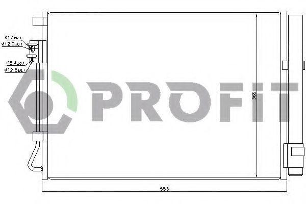 Конденсор кондиционера PROFIT PR1310C1