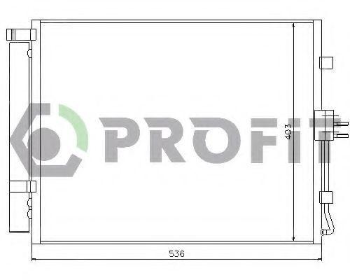 Конденсор кондиционера PROFIT PR1312C3