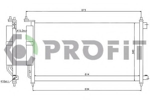 Радиатор кондиционера PROFIT PR 1622C1