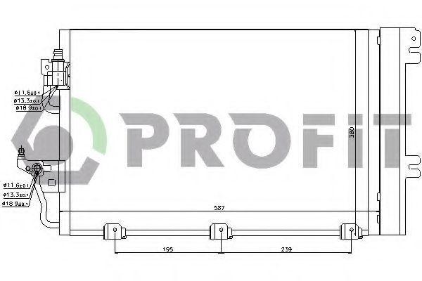 Конденсор кондиционера PROFIT PR 5052C1