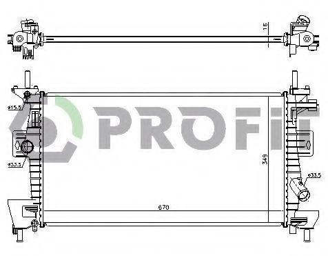 Радиатор охлаждения PROFIT PR 2563A5