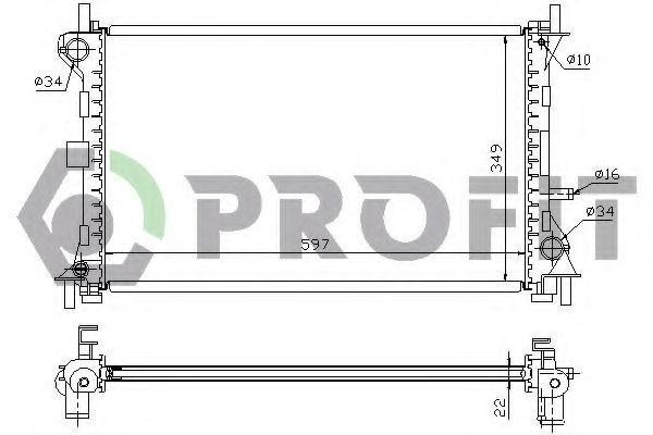 Радиатор охлаждения PROFIT PR2563A3