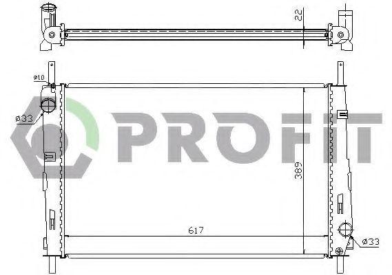 Радиатор охлаждения PROFIT PR2567N1