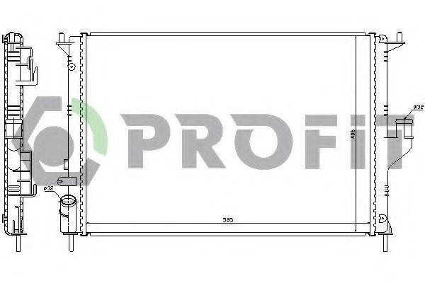 Радиатор охлаждения двигателя PROFIT PR 6037N5