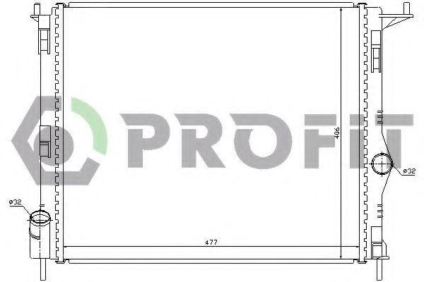 Радиатор охлаждения двигателя PROFIT PR 6037N6