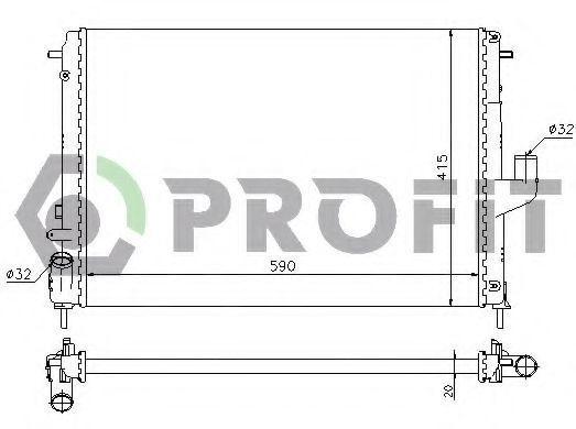 Радиатор охлаждения PROFIT PR 6037N9