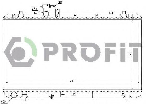 Радиатор охлаждения PROFIT PR7052N2