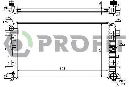 Радиатор охлаждения PROFIT PR3546A6