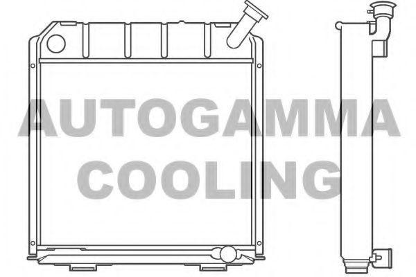 Радиатор, охлаждение двигателя AUTOGAMMA 100178