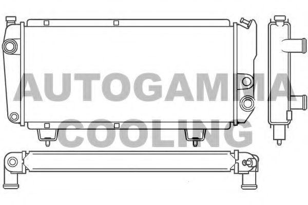 Радиатор, охлаждение двигателя AUTOGAMMA 100193