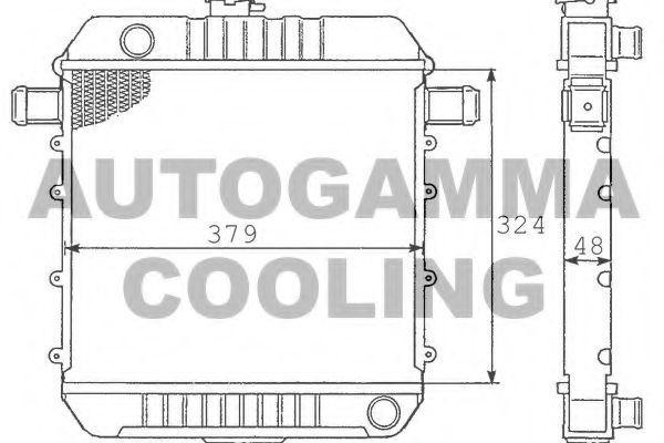 Радиатор, охлаждение двигателя AUTOGAMMA 100653