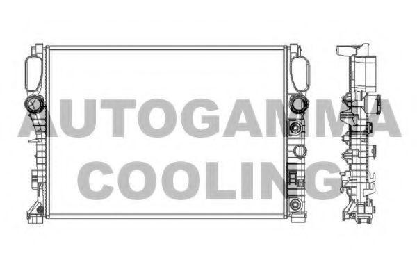 Радиатор, охлаждение двигателя AUTOGAMMA 103339