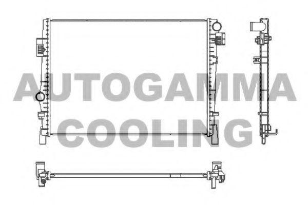 Радиатор, охлаждение двигателя AUTOGAMMA 105693