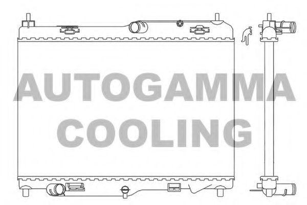 Радиатор, охлаждение двигателя AUTOGAMMA 105774