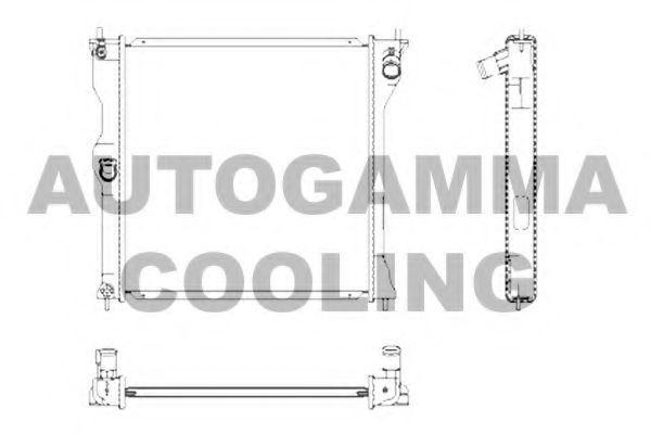 Радиатор, охлаждение двигателя AUTOGAMMA 107253