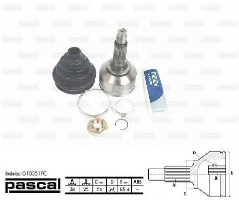ШРУС PASCAL G10351PC
