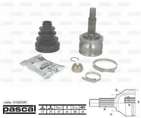 ШРУС внешний PASCAL G10353PC