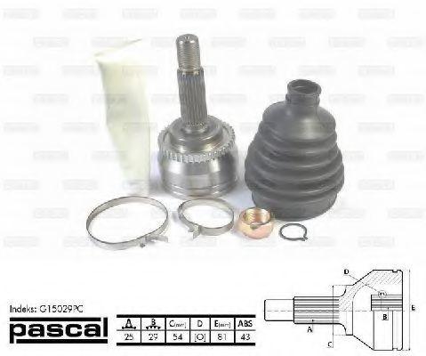 ШРУС PASCAL G15029PC