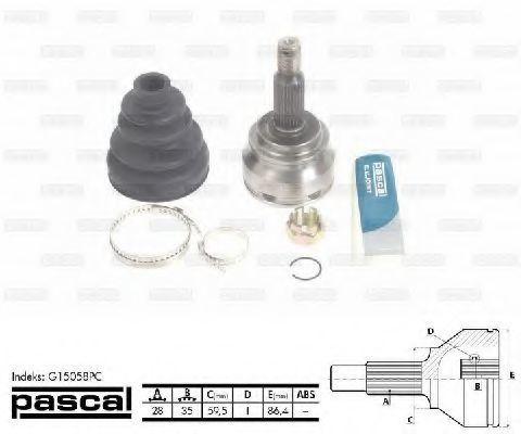 ШРУС внешний PASCAL G15058PC