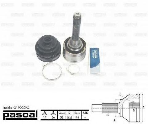 ШРУС внешний PASCAL G19002PC