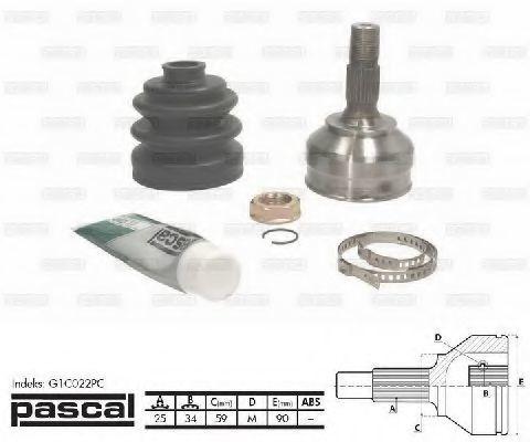 ШРУС наружный PASCAL G1C022PC