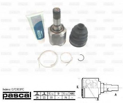 ШРУС внутренний PASCAL G70303PC