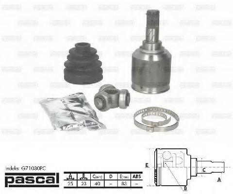 ШРУС PASCAL G71030PC